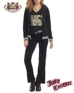 c41b1d99b1f0b Image is loading Juicy-Couture-Tracksuit-Velour-Lurex-Pleated-2pc-Set-