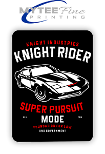Knight Rider 80s Tv Show The Hoff Inspired METAL SIGN PLAQUE Man CAVE Poster
