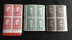 Amiable Argentina Three Unused Stamp Plates 1950 International Physiological Congress Cleaning The Oral Cavity. Stamps