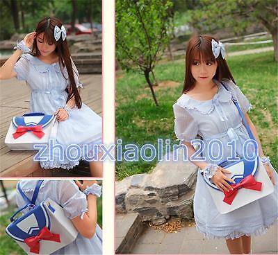 2 Ways Sailor Moon Preppy Style JK Message Shoulder Bag PU Backpack Cute Handbag