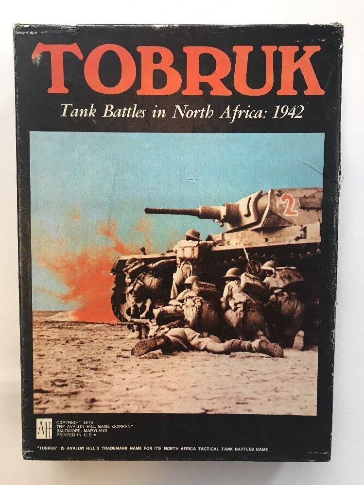 Tobrouk 1975 Board Game non perforé complet