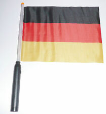 Deutschland Fußball WM EM Hand Flagge Fahne mit Melodie Hymne Fanartikel 40cm