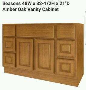 New Bathroom Vanity Drawer Base Cabinet Amber 48 Quot Wide X