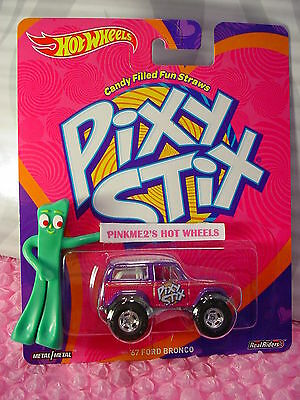 2016 Wonka Hot Wheels /'67 FORD BRONCO☆Purple; Pixy Stix☆Real Riders☆Pop Culture