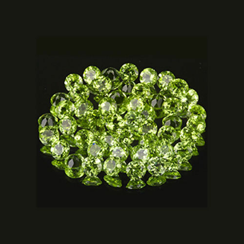 2.5mm 50pc Matched Lot Round Cut Accent Stone Natural Green PERIDOT