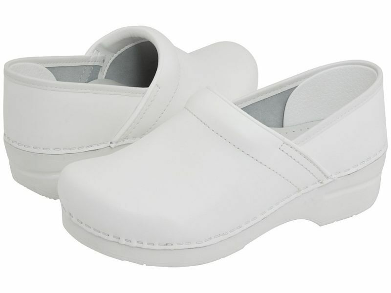 Women's Dansko Professional Clogs White Box Leather