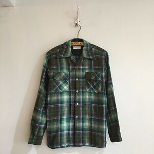 True-Vintage-1960s-USA-Men-s-JC-Penny-Wool-Check-Lumberjack-Shirt-M-M-L