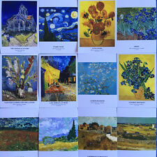 Vincent Van Gogh Famous Paintings Postcards Starry Night Sunflowers