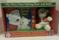 My Very Own Sweet And Cuddly Holiday Talking Bear And Book Brand In Box Gift