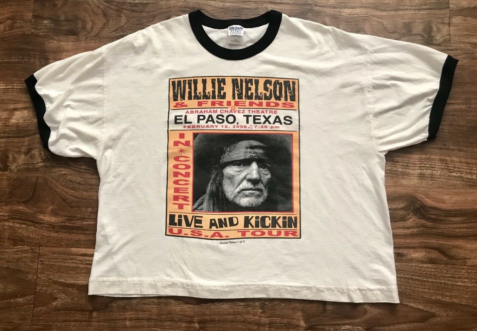 Rare Willie Nelson Live and Kickin 2006 Promo Tour T-Shirt Crop Top 1 of 72