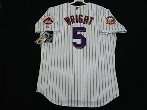 the best attitude 6405c 9b0a6 Details about Majestic AUTHENTIC 52 2XL NEW YORK METS DAVID WRIGHT  PINSTRIPE Jersey RARE!