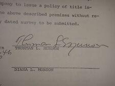 THURMAN MUNSON PSA/DNA SIGNED 1977 SURVEY AFFIDAVIT CERTIFIED AUTHENTIC