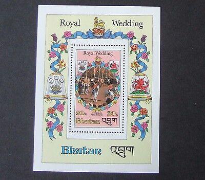 Bhutan Stamps Humor Bhutan 1981 Royal Wedding Ms Diana Charles Mnh Um Unmounted Mint