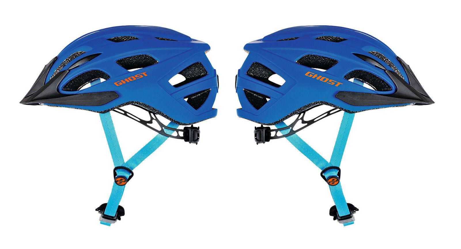 GHOST Bikes Fahrradhelm Helm Classic blue orange Modell 2017 Größe 53-58cm