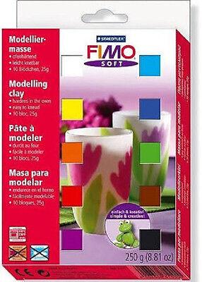FIMO 802-301 Soft Modeliermasse Set mit 10 verschiedenen Farben Knete
