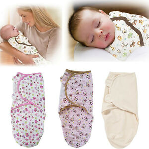 USA Newborn Baby Infant Soft Swaddle Wrap Swaddling Blanket Sleeping Bag 0-6M