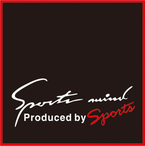 Reflective Sports Mind Letter Logo Decal Vinyl Car Stickers Headlight Stickers