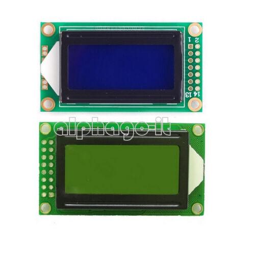 Yellow//Blue 0802 8x2 Character LCD Display Module 5V LCM F Raspberry pi Arduino