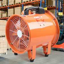 12 Axial Fan Explosion Proof Cylinder Pipe Spray Booth Paint Fumes Exhaust Fan