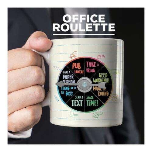 Office Roulette Decision Mug Desk Work Office Secret Santa Stocking Filler Xmas