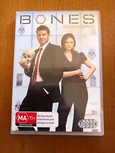 Bones-Season-Three-MA-4-Disc-DVD-Set-Pal-Free-Postage-Oz-Seller