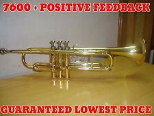 GREAT SALE FOR STUDENTS New Golden Brass Bb flat Trumpet With Free Case+M/P