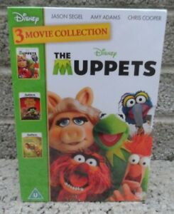 The-Muppets-3-movie-collection-Disney-DVD-box-set-Brand-new-amp-sealed