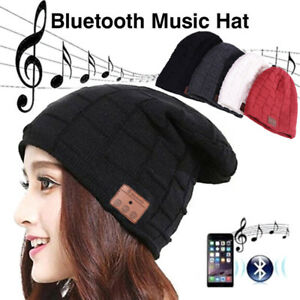 Unisex-Wireless-Bluetooth-Headset-Beanie-Hat-Music-With-Headphones-Earphone-Cap