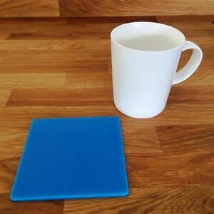 """Carré Bleu Clair Brillant Finition Acrylique Coasters, Ensembles De 4, 6 Ou 8, 10.5 Cm 4""""-afficher Le Titre D'origine"""
