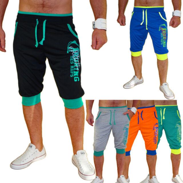 Herren Shorts Bermuda Capri kurze Hose  3/4 Sommer Hose  Strand Caprihose Neu
