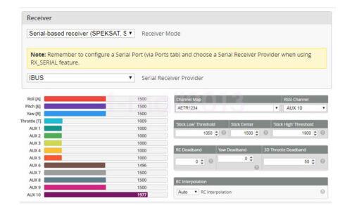 Fli14+14CH Mini Receiver Compatible Flysky AFHDS-2A w// PA OSD RSSI Output