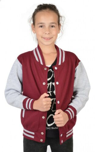 Ragazze COLLEGE Giacca Rosso-Butterfly-Bambini Giacca College motivo farfalle