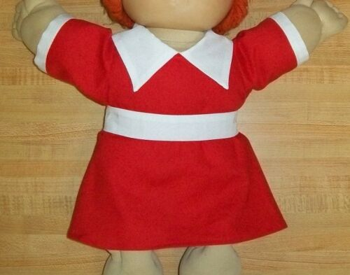 """ANNIE MOVIE RED DRESS+BELT AILEEN QUINN DRESS for 16/"""" CPK Cabbage Patch kids"""