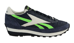 38bb9f941075e Reebok Aztec OG Suede Mens Womens Unisex Lace Up Trainers Navy ...