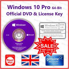 Microsoft Windows 10 Pro 32/64-bit CD Disc??+?? Genuine DVD & License Key