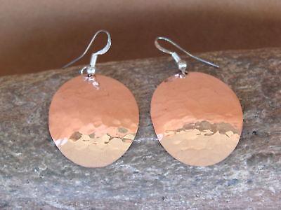 Handmade by Douglas Etsitty Navajo Indian Jewelry Copper Hammered Cross Pendant