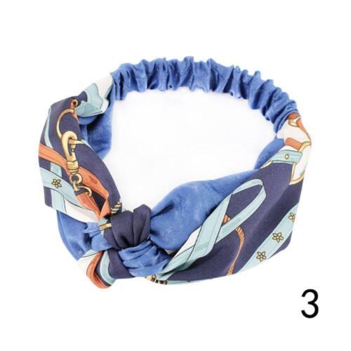 Frauen-populäres Yoga-elastisches Blumenhaarband-Stirnband Turban geknotet