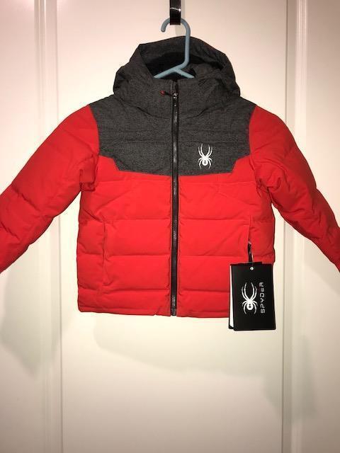 b8c34a4e2 Spyder Kids Boys Mini Clutch Down Jacket Winter Coat Red Size 4