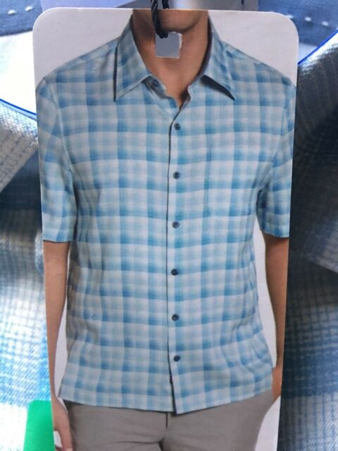 a18ada55d31 Nat Nast Lapis Blue Shirt 70 Silk 30 Cotton With Tags Size XL for ...