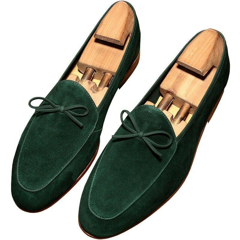 Mens slip on tassels bowtie loafer shoes pumps fashion 4 colors 38-44 Breathable