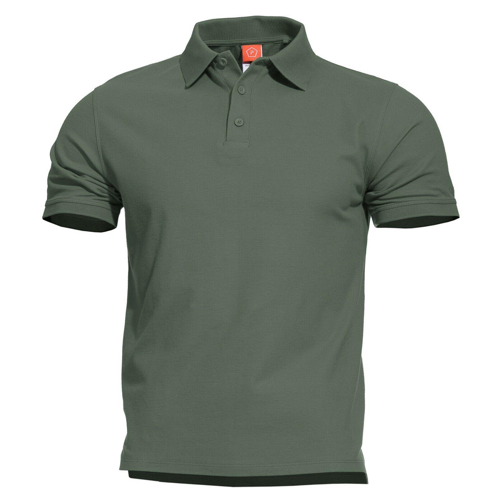 Pentagon Camisa Polo Hombre Militar Casual Aniketos verde Encima  Tallas  muchas sorpresas