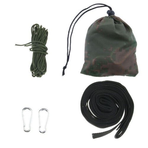Tree Swing Straps Kit Hammock Hanging Belt Ropes with Carabiners Accessories