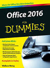 Office 2016 Fur Dummies by Wallace Wang (Paperback, 2016)