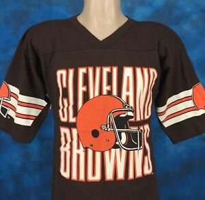 Details about vintage 80s CLEVELAND BROWNS FOOTBALL JERSEY T-Shirt SMALL nfl hip hop ohio 90s