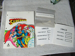 SUPERMAN-COLOR-COVER-WITH-INSERTS-ATARI-PINBALL-arcade-game-manual