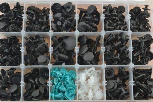 299 Pcs 18 Sizes Body Push Retainer Pin Rivet Trim Clip Assortments Kit