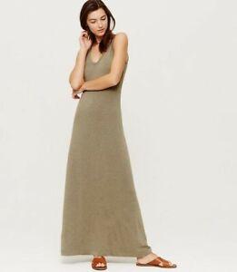 LOFT-Lou-amp-Grey-Signature-Soft-Double-V-Maxi-Dress-Small-Olive-Heather