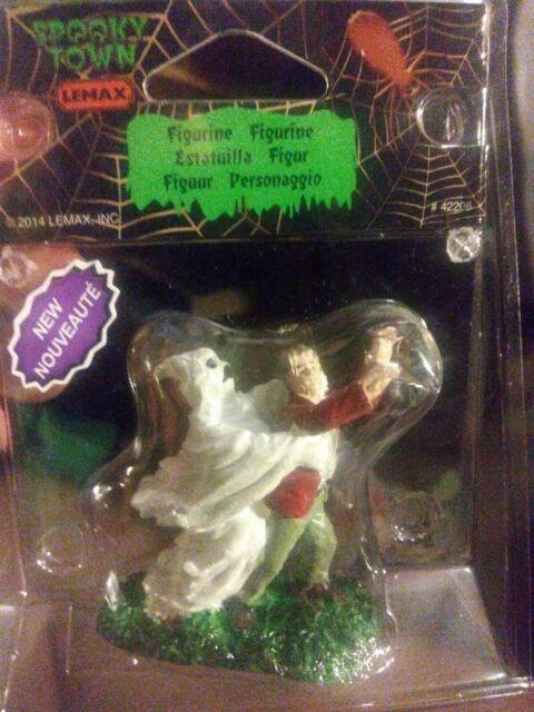 Lemax 42206 GHOST GRASPS VICTIM Spooky Town Figurine Village Halloween Decor G I