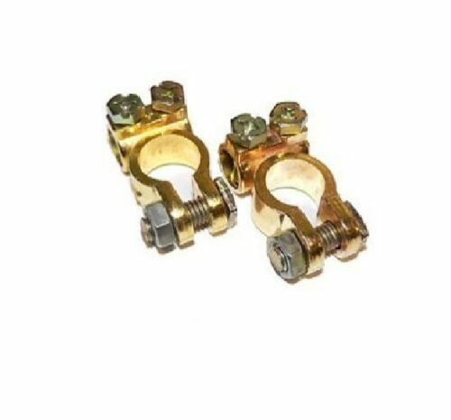 Pair Of Car Battery Terminals Heavy Duty Offset Terminal Commercial Pos Neg