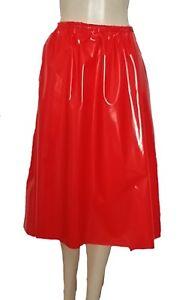 pvc a line skirt shiny plastic elasticated waist